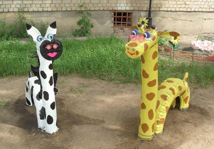 Hüpftiere aus alten Reifen selber bauen | Garten | Pinterest ...