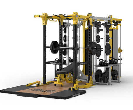 Hammer strength ultimate rack custom configuration fitness gym