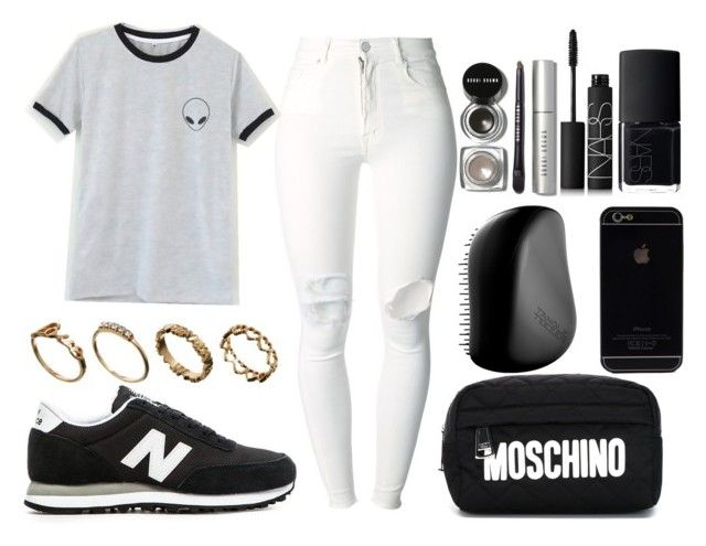 """""""604."""" by werszy99 ❤ liked on Polyvore featuring (+) PEOPLE, New Balance, Moschino, Tangle Teezer, NARS Cosmetics, ASOS and Bobbi Brown Cosmetics"""