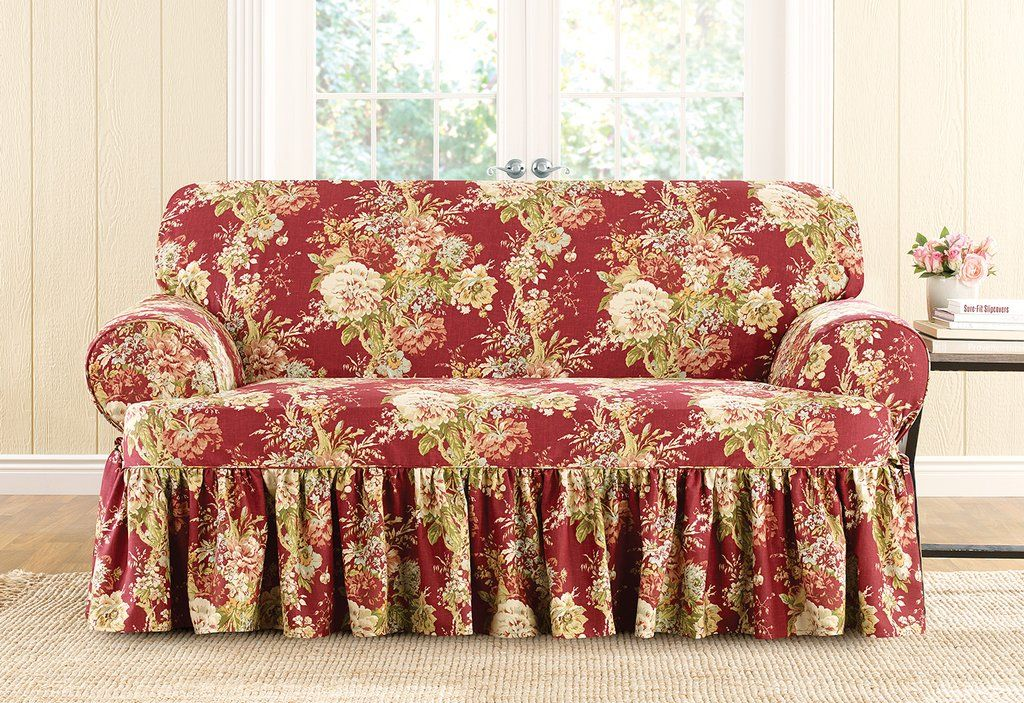 Excellent Ballad Bouquet By Waverly One Piece Loveseat Slipcover Pdpeps Interior Chair Design Pdpepsorg