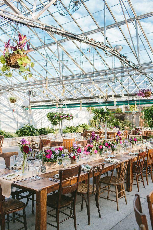 Rustic Elegance The Horticulture Center Greenhouse Wedding Venue