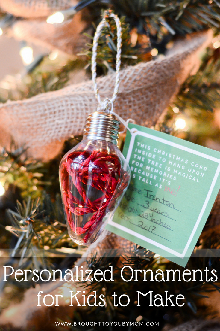 Personalized Ornaments for Kids to Make - DIY Ribbon Height Ornament ...