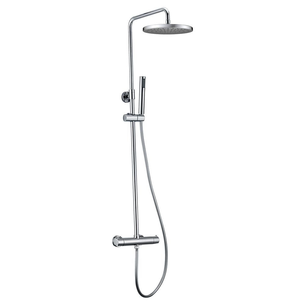 Jade Bath Pippa Ii Thermostatic Shower System With Shower Head And
