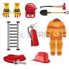 Una ilustración vectorial de los iconos de los bomberos. Foto de archivo - 23285455