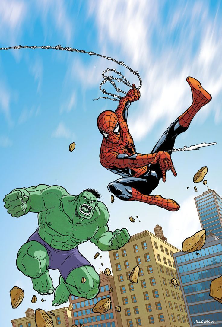 Hulk Fan Art. (Hulk vs Spidy Spiderman Poche 3 cover