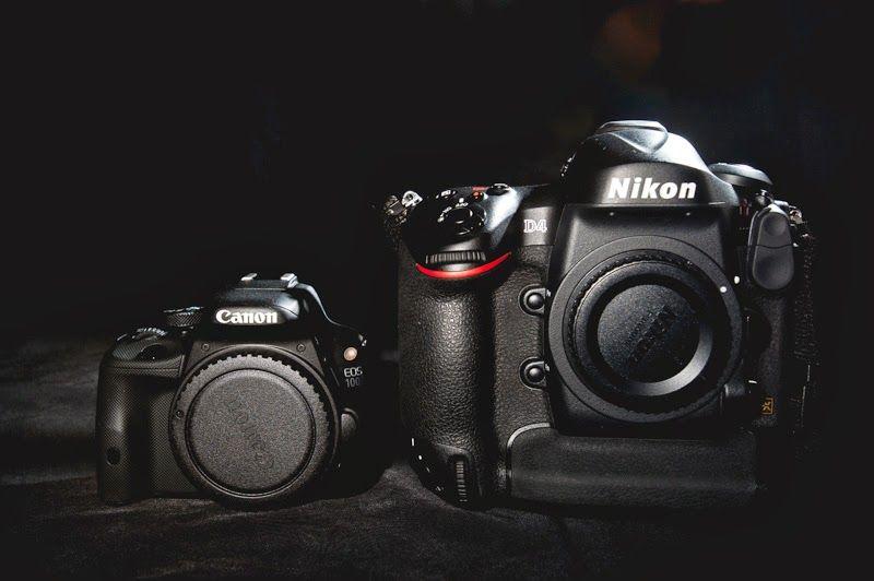 The Smallest Dslr Vs The Biggest 100d Vs D4 Eos Canon Eos Camera Equipment