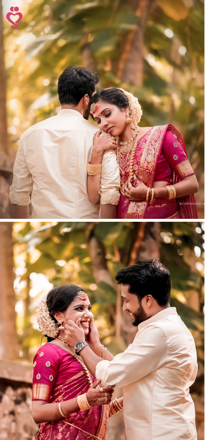 Love Story Shot Bride And Groom In A Nice Outfits Best Locati Indian Wedding Photography Couples Kerala Wedding Photography Indian Wedding Photography Poses