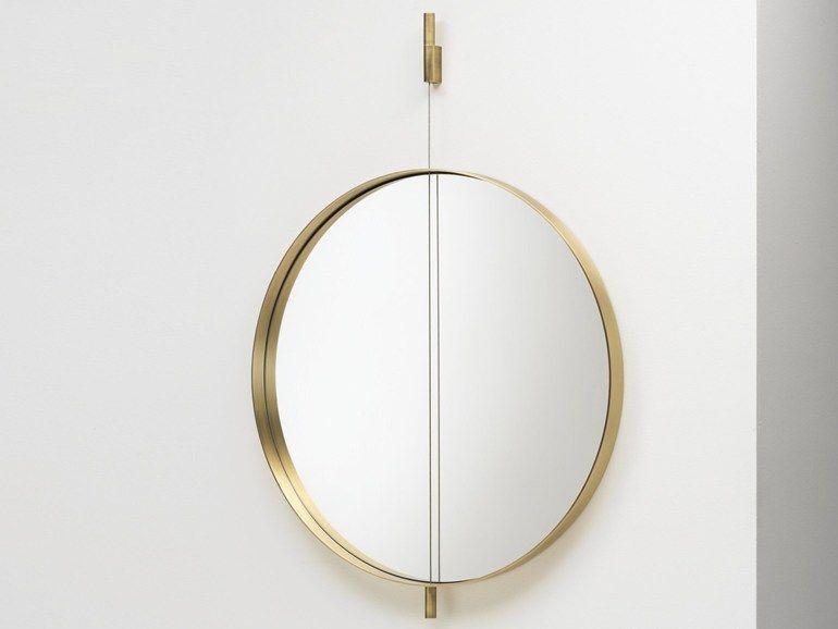 Runde Spiegel runder spiegel zur wandmontage galileo by living divani design mario