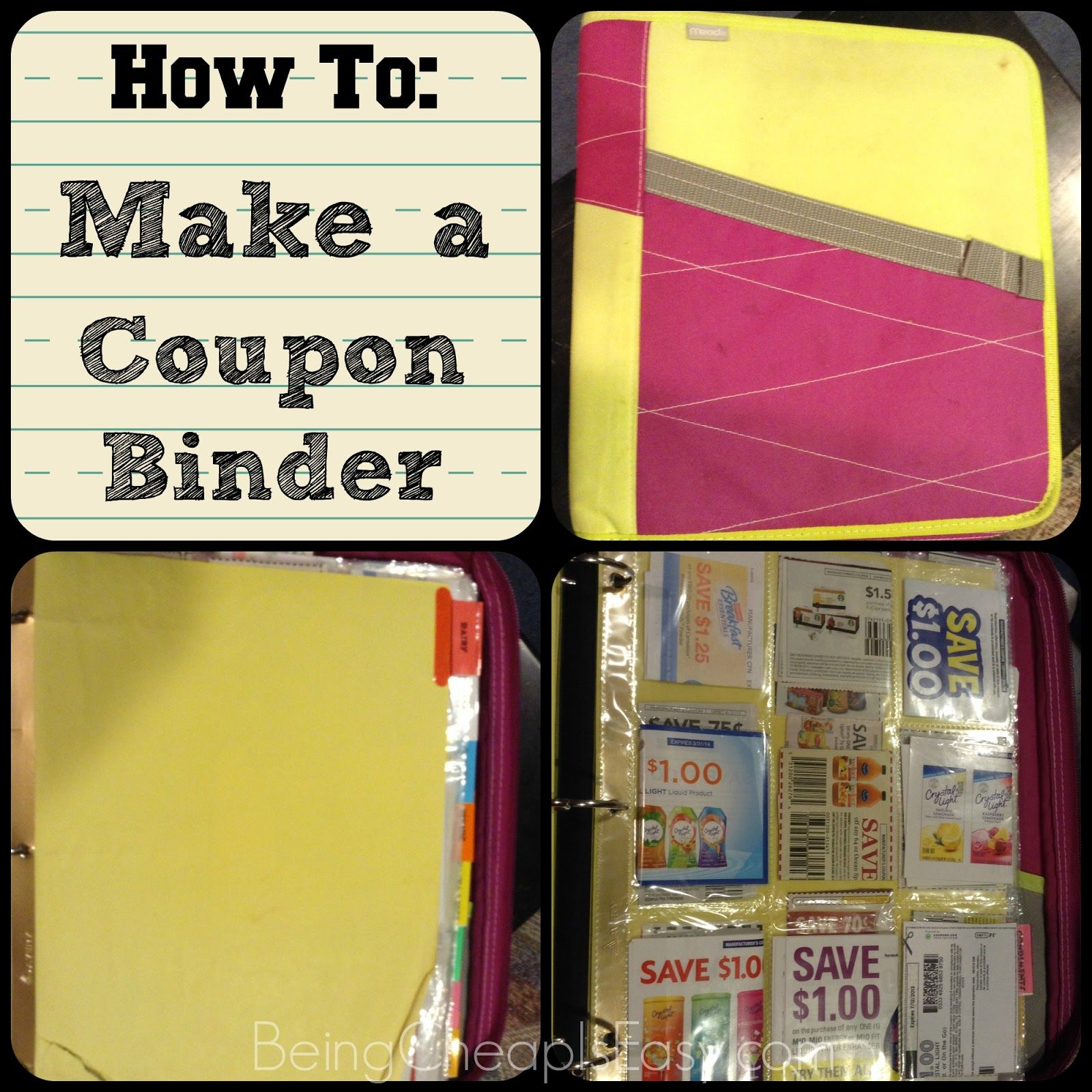 How To Make A Coupon Binder! Saves You SO Much Time While