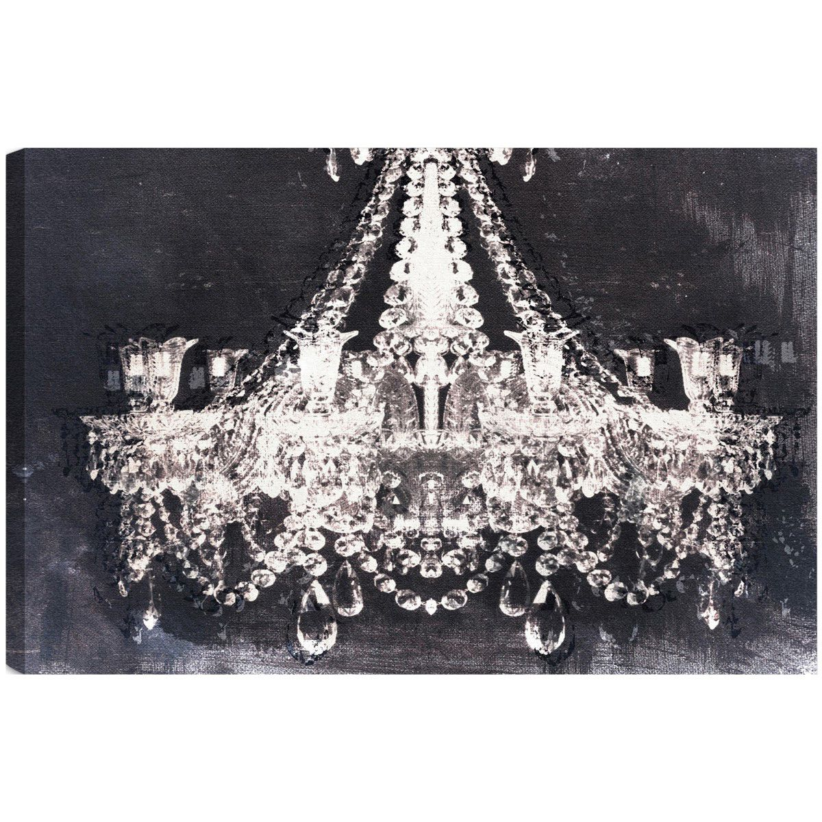 gallery wrap art print wall giclee chandelier on canvas p modern background black wood