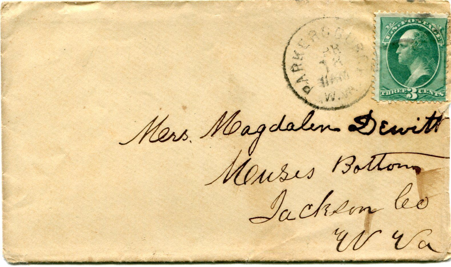Cover And Letter Parkersburg Wv To Muses Bottom
