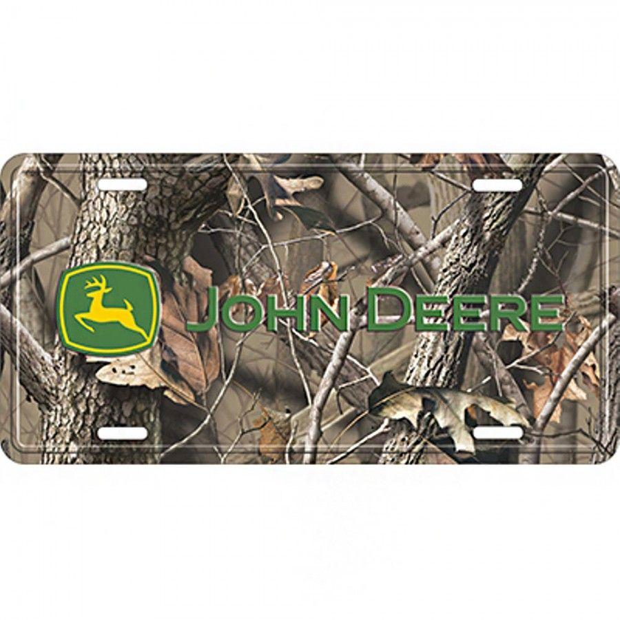 John Deere Realtree Camo License Plate - License Plates & Frames ...