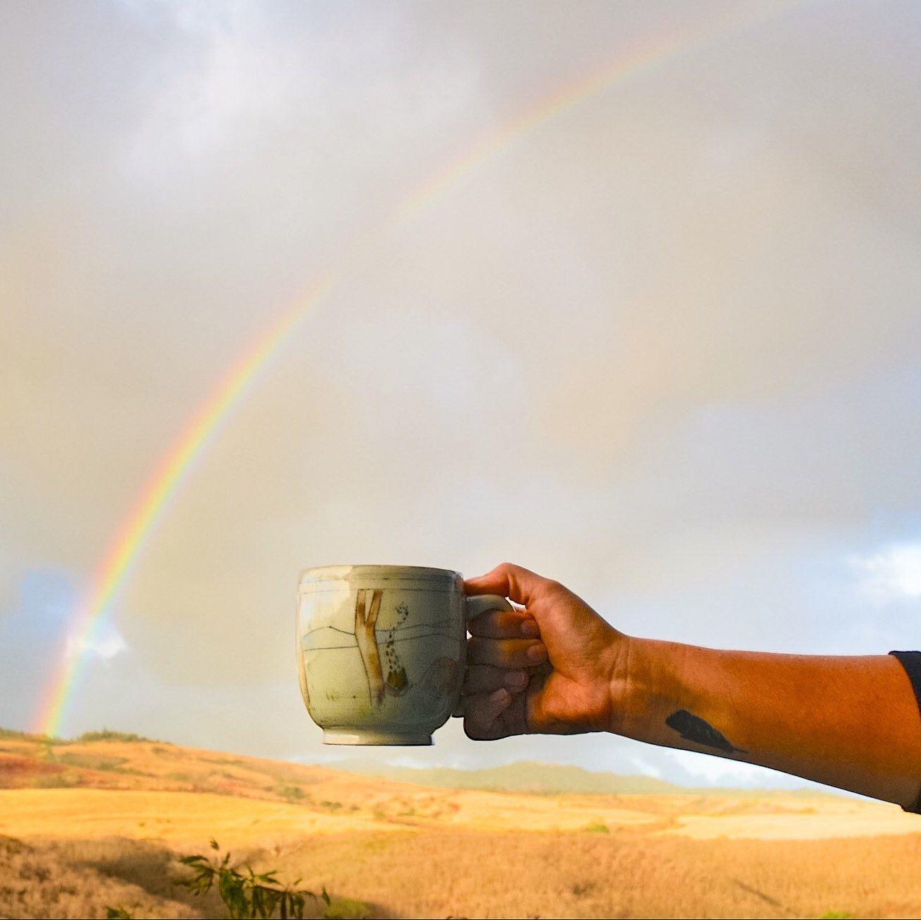 Double rainbow all the way across the sky  Follow this travelin mug on my Instagram @lauriecaffery.clay + under the hashtag #mugonholiday
