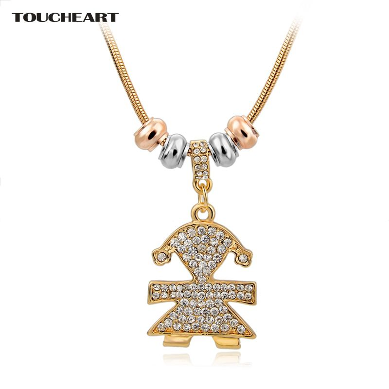 TOUCHEART Gold Statement Necklaces & Pendants Crystal Long Friendship Necklace For Women Ethnic Jewelry Christmas Gift Sne150768