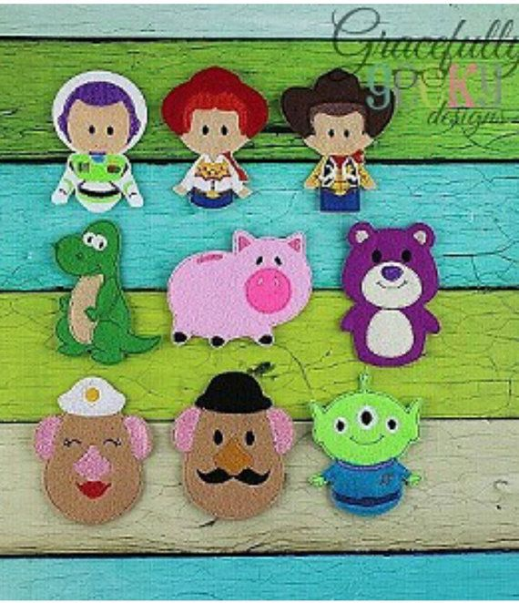 Toy Story Finger Puppets By Embughandcrafted On Etsy