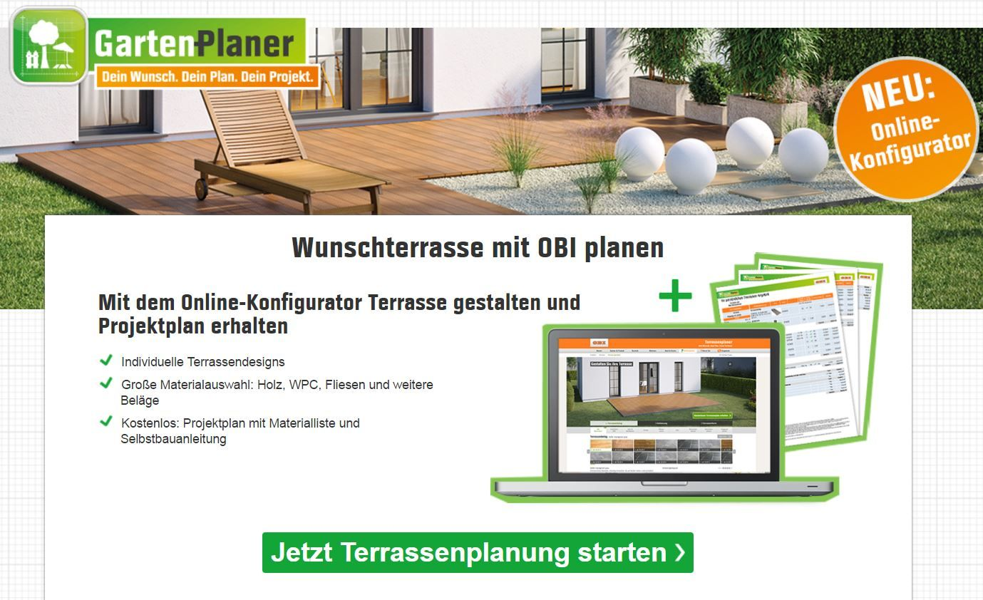 wunschterrasse online gestalten obi gartenplaner pinterest garden and home. Black Bedroom Furniture Sets. Home Design Ideas