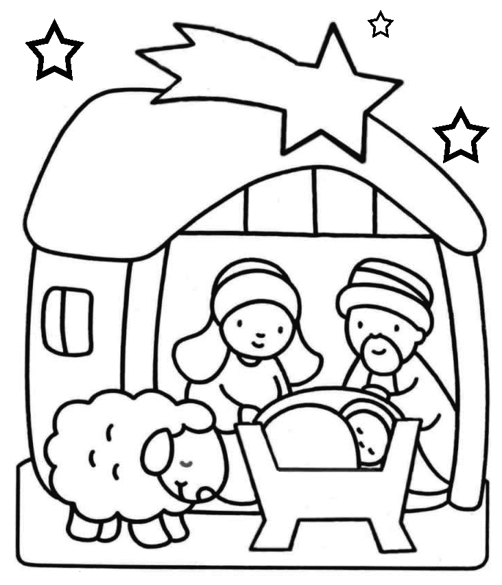 Baby Jesus Coloring Pages ColoringChristmas Nativity