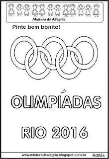 Aneis Olimpicos Texto Desenho Para Imprimir E Colorir