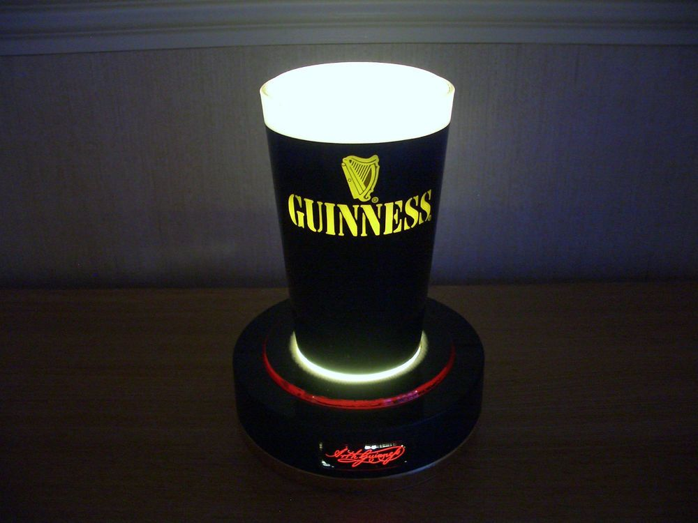 Guinness illuminated bar top pump sign beer advertising pub guinness illuminated bar top pump sign beer advertising pub light home bar mozeypictures Images