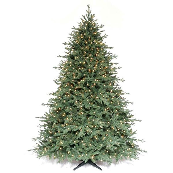 Martha Stewart Living™ 7.5 ft. Pre-Lit Royal Sarah Spruce Artificial  Christmas Tree with SureBright Clear Lights available at The Home Depot - Martha Stewart Living™ 7.5 Ft. Pre-Lit Royal Sarah Spruce Artificial