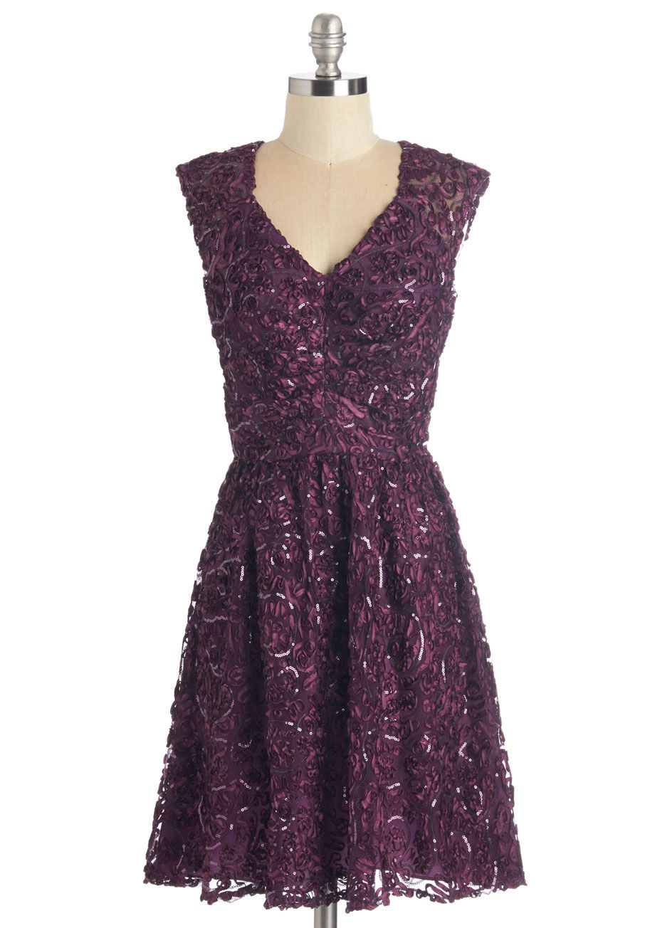 Twinkling at Twilight Dress in Plum - Special Occasion, Prom ...