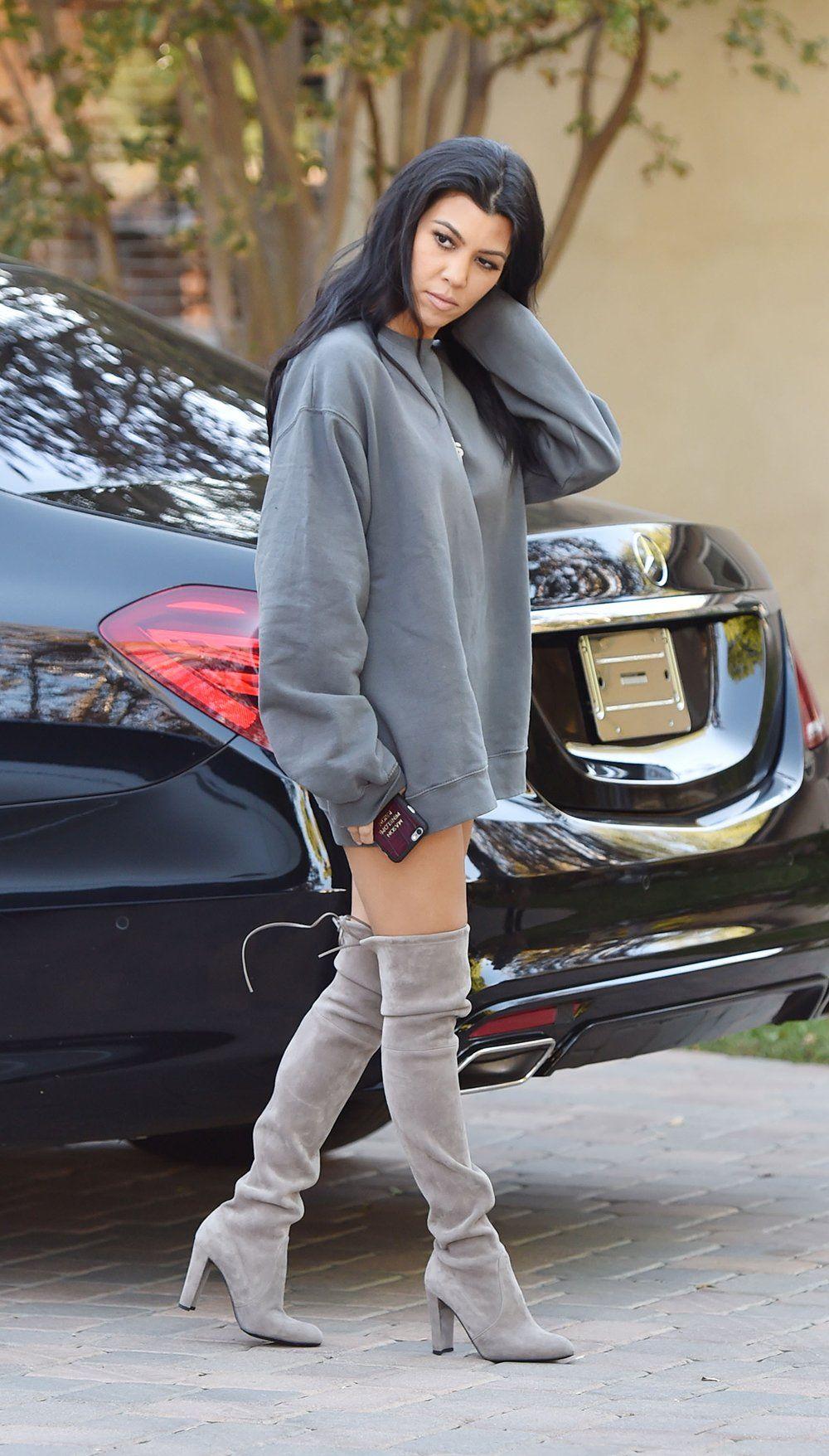 a879b85a9a9d Oversized Tops + Thigh-High Boots - Kourtney Kardashian Official Site