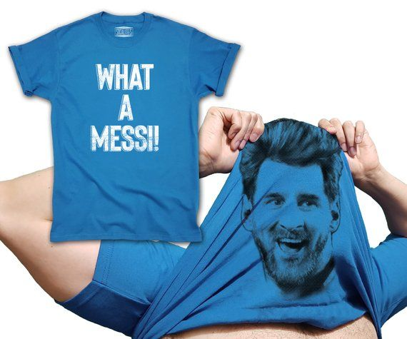 wholesale dealer fd1dc 784ea Lionel Messi T-shirt Flip Up What a Messi inspired world cup ...