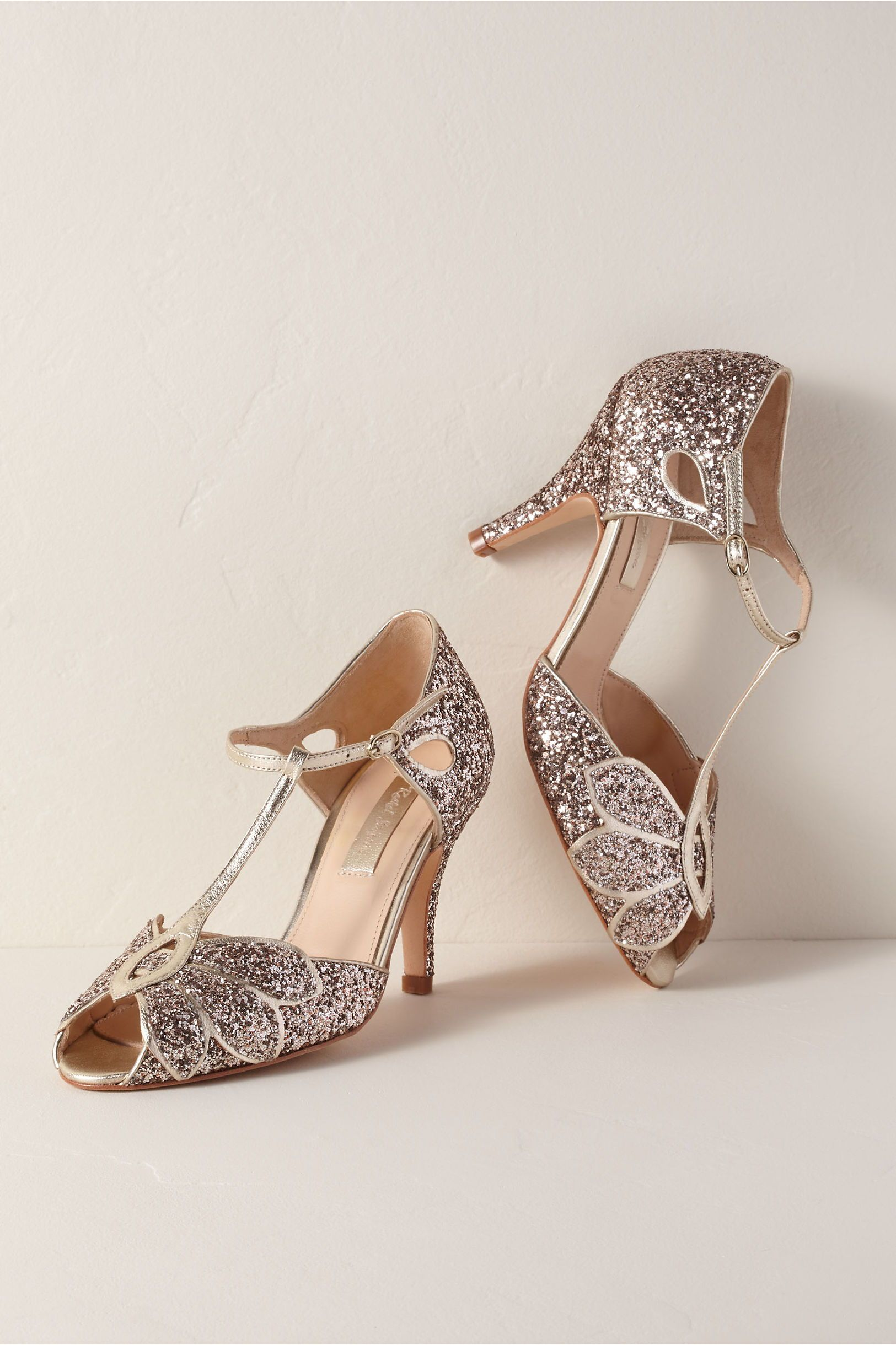 Glitter Gatsby Shoes Vintage 1920s Inspired Flapper Heels Bridal Shoes Low Heel Wedding Shoes Heels Wedding Shoes Low Heel