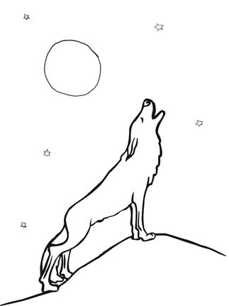 Wolf Howling At Moon Coloring Page Moon Coloring Pages Wolf Howling At Moon Wolf Colors