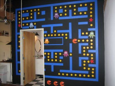 Art Pacman Wall Decor Luke S Awesome Game Room Video Game Room Decor Game Room Decor Gaming Decor