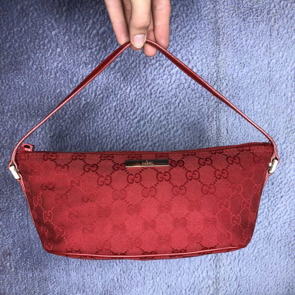 Vintage Gucci monogram mini bag. In great gently used for ! - Depop 2351912e40faa
