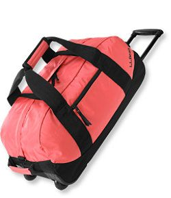#LLBean: Adventure Rolling Duffle, Medium (Hot Coral)