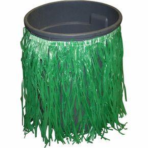 Hula Skirt Trash Can Cover | Green #hawaiianluauparty