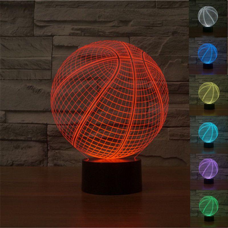 2016 Creative Basketball 3D Lamp Optical Illusion Bulbing Led ...