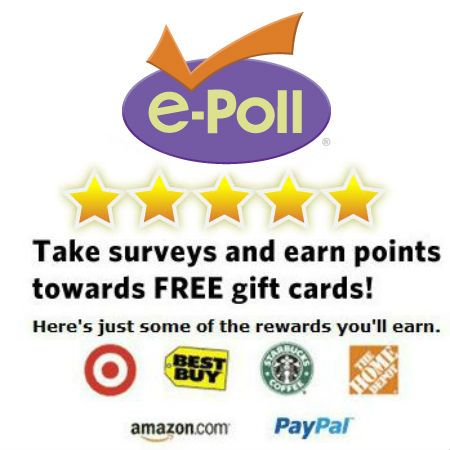 E-Poll Earn FREE Cash or Gift Cards Free cash, Extra cash and Cards - make gift vouchers online free