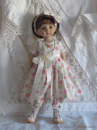 "13"" Effner Little Darling BJD Checks Roses OOAK Handmade Set by JEC | eBay"