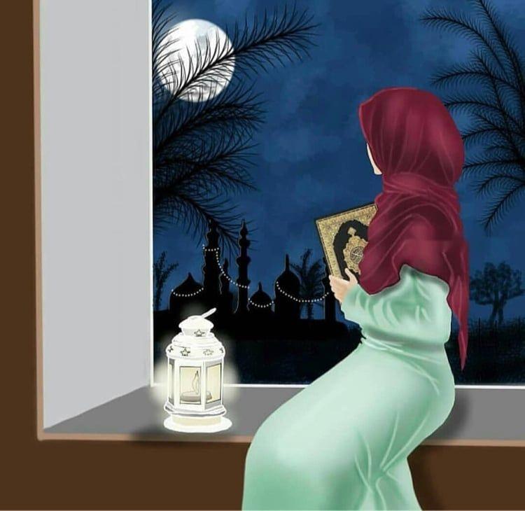 Image Decouverte Par Princess Rose Decouvrez Et Enregistrez Vos Images Et Videos Sur We Heart It Islamic Artwork Hijab Cartoon Islamic Art Cartoon hijab woman wallpaper