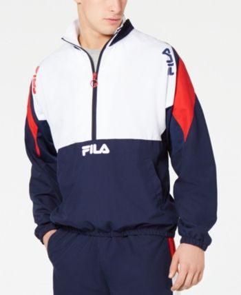 d382c0be3 Fila Men's Marty Half-Zip Colorblocked Wind Jacket - Blue M ...