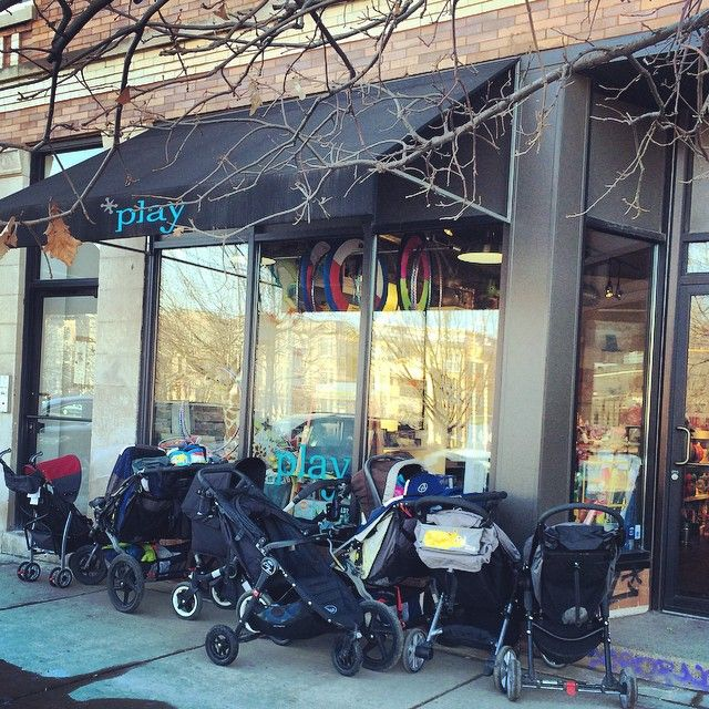 Stroller Parking Only. We're gonna need a valet if this weather keeps up! #strollerseason #logansquare