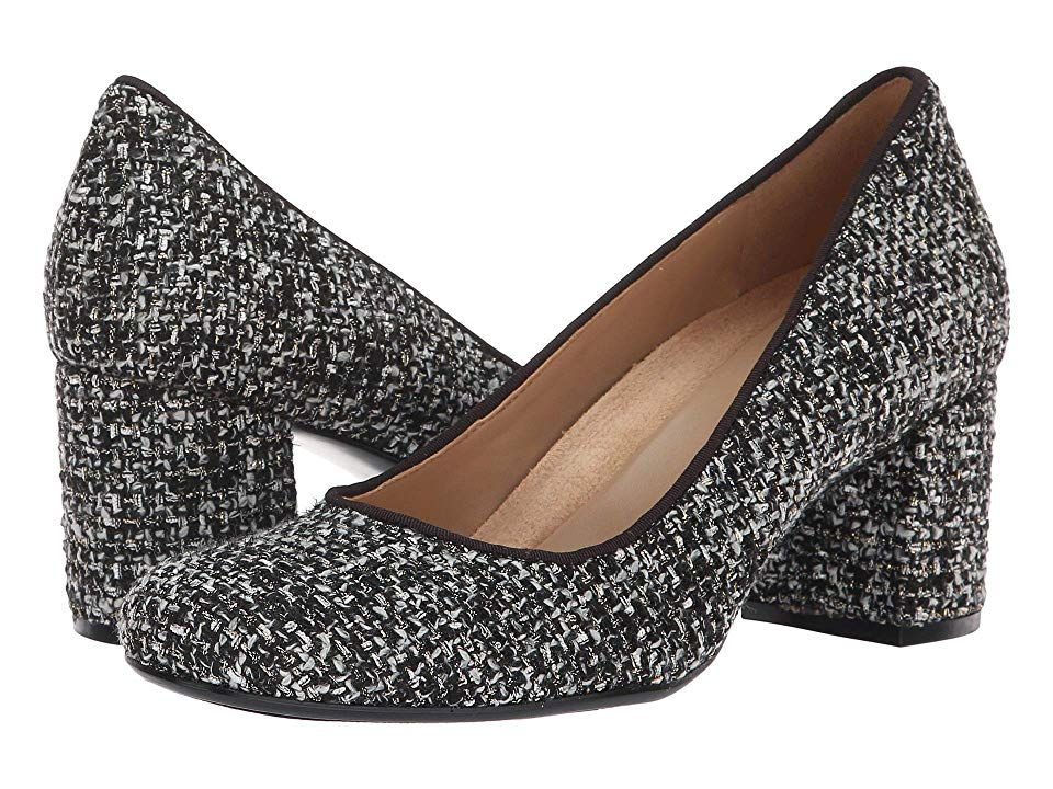068044a72158 Naturalizer Whitney (Black White Metallic Tweed) High Heels. The Whitney  pump is