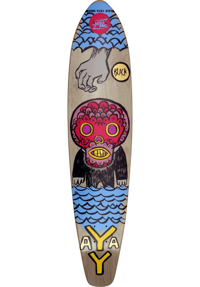 MOB-Skateboards Muerte-Pintail - titus-shop.com  #DeckLongboard #Skateboard #titus #titusskateshop