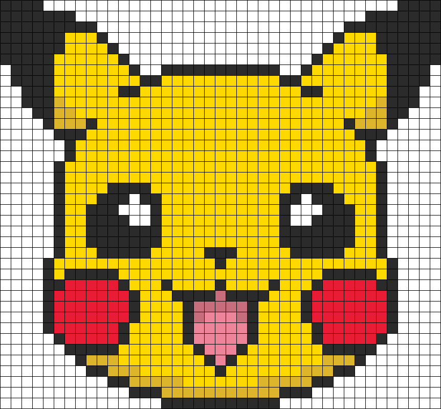 Pikachu Pixel Fuse Bead Patterns Hama Beads Patterns