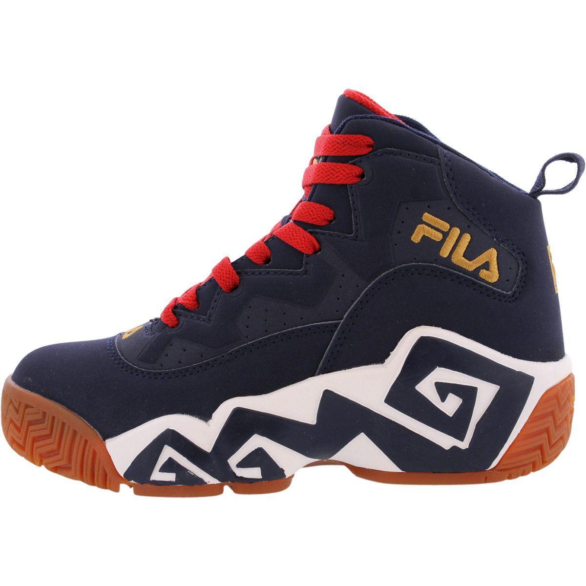 417f4d7cef10 Fila - Boy s Mashburn Mid Sneakers - Navy Red Boy Shoes