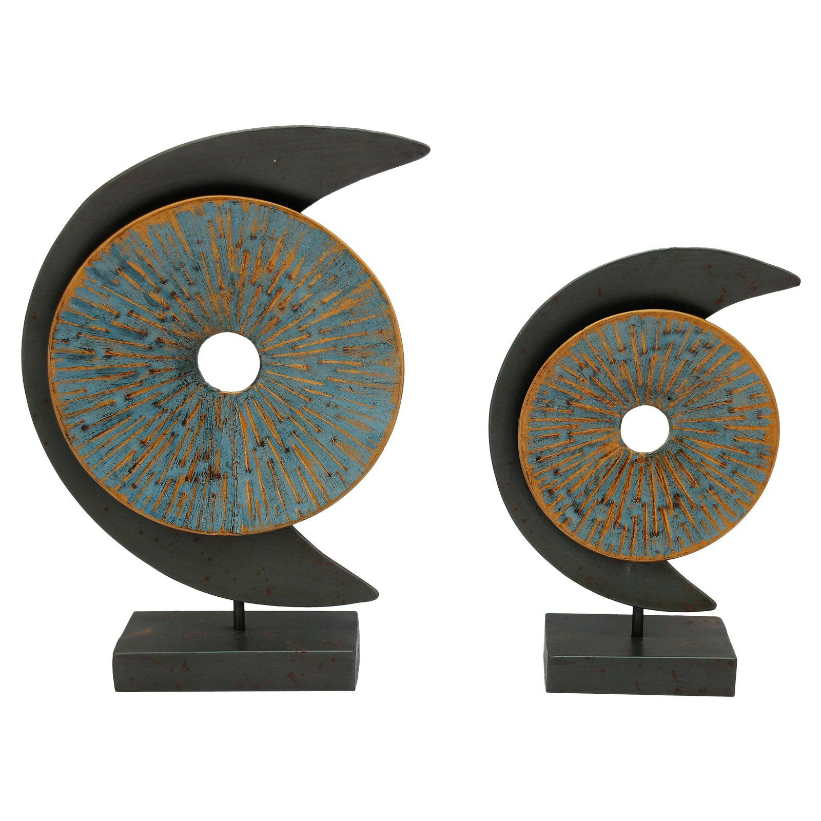 Moes home collection blue moon piece sculpture hw