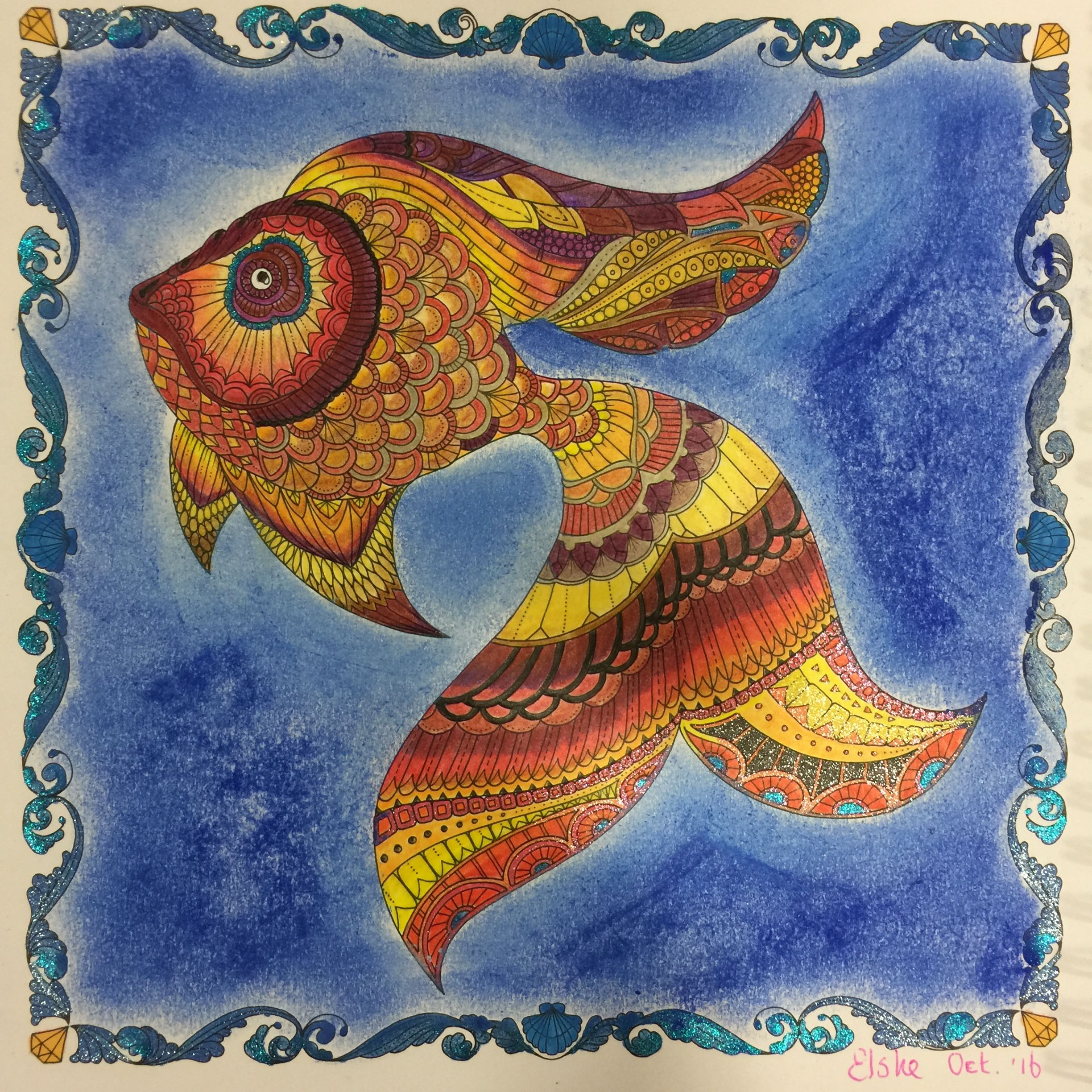 fish lost ocean johanna basford 16 month weekly colouring