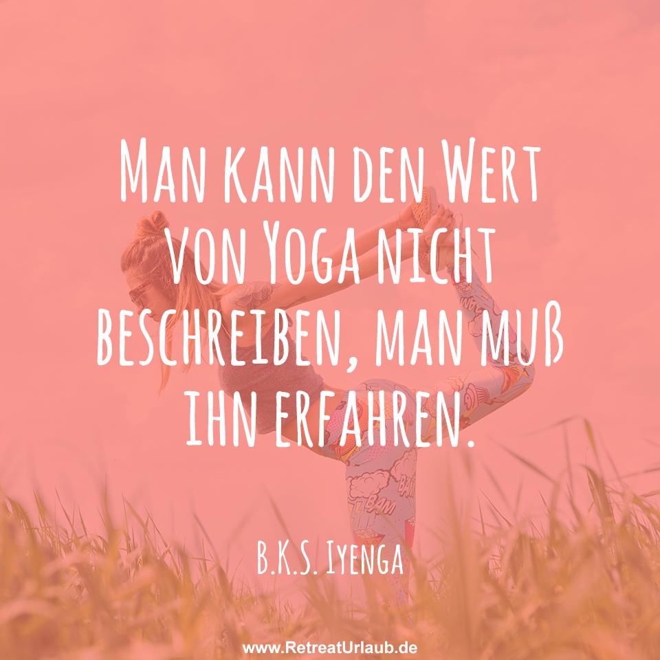 man kann den wert von yoga nicht beschreiben man mu ihn erfahren b k s iyenga. Black Bedroom Furniture Sets. Home Design Ideas