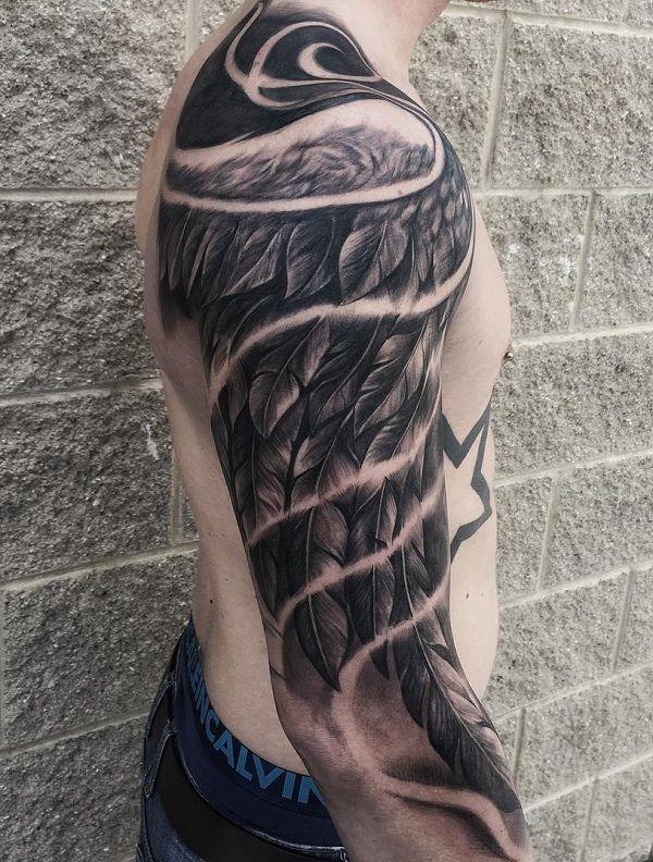 Skrzydła Tatuaż Męski I Damski 53 Różnych Motywów
