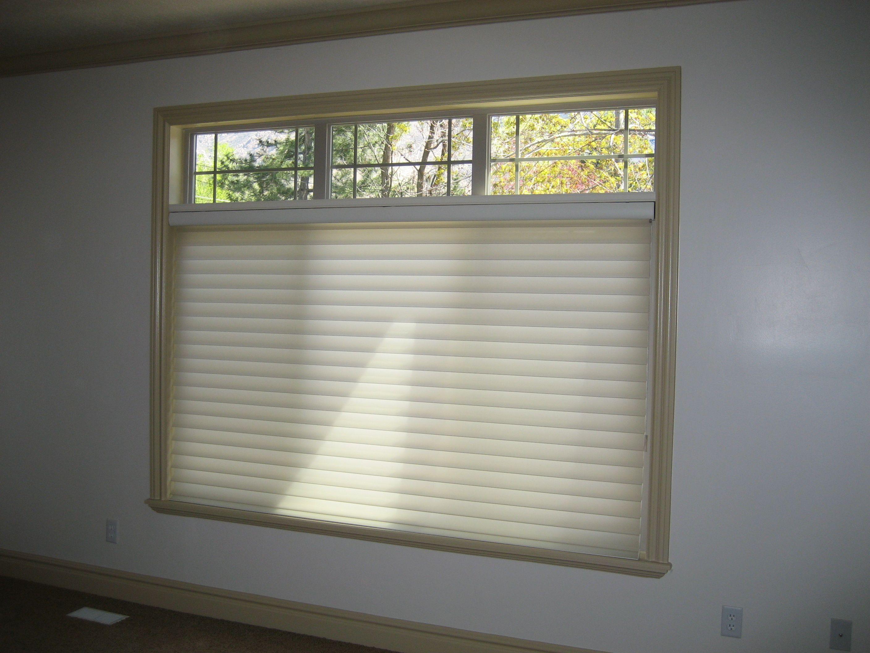 Silhouette Window Shades Mounted Under A Palladium Shelf Window Styles Window Shades Blinds