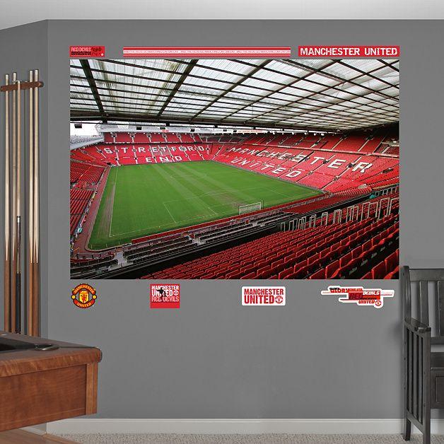 Inside Old Trafford Mural Soccer Bedroom Boys Soccer Bedroom Manchester United