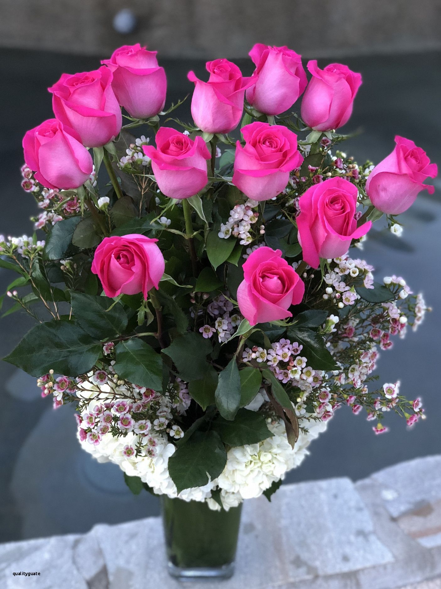 Flowers In A Vase Lovely Pauline Dozen Long Stem Pink Roses In A Vase In Torrance Ca Beautiful Rose Flowers Beautiful Flowers Flower Vases